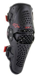 ALPINESTARS SX1 V2 KNEE GUARDS BLACK RED HINGED MOTOCROSS MX ENDURO MTB BRACES
