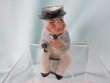 Antique Toby Mug Artone England Man Sitting Hook Hand Staffordshire Marked