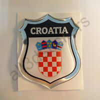 Sticker Croatia Emblem Coat of Arms Shield 3D Resin Domed Gel Vinyl Decal Car