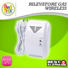 RILEVATORE SENSORE GAS METANO GPL WIRELESS ANTIFURTO ALLARME SERIE A-B-N-X