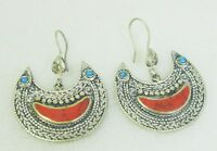 Tribal Jewelry Bohemian Afghan Kuchi Earrings Crescent Ethnic Hippie Boho Gypsy