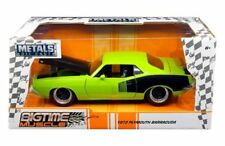 "JADA 1973 PLYMOUTH BARRACUDA GREEN ""BIG TIME MUSCLE"" 1/24 DIECAST MODEL  98343"