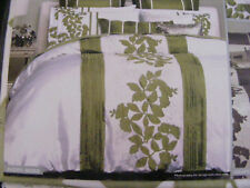 BN AVERY MOSS Applique & Embroidery DOUBLE Quilt Cover Set LOGAN & MASON