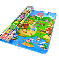 2mx1.8m XXL Baby Kids Floor Play Mat Rug Picnic Cushion Crawling Mat 5mm thick
