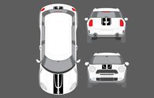 Mini Countryman Cooper Works Bonnet Tailgate Trident Style Stripes Graphics Set