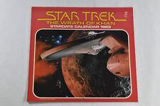 Star Trek II The Wrath of Kahn 1983 Vintage Pocket Press Stardate Wall Calendar