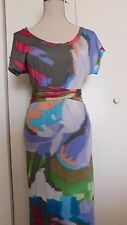 ETRO Multicolor Watercolor Dress Silk Can fit XS & S IT 38 ITaly
