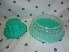 Tupperware  Bake 2 Basics Jel Ring Jelly Mould Aqua New
