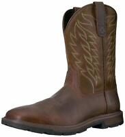 Ariat Mens 10020059 Leather Closed Toe Mid-Calf Western Boots, Brown, Size 12.0