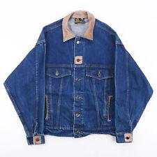 Vintage Krazy Krinkle blau 00s Regular Casual Denim Jacke Herren M