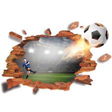 Autocollants muraux Football gardien de but sport garçon Smashed Decal 3D Art Vinyle Pièce C174
