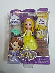 """Disney Sofia The First Princess Amber #3 Magical Talking Castle 3"""" Doll - NEW!"""