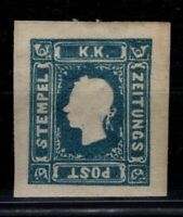 P130299/ AUSTRIA NEWSPAPERS STAMP / Y&T # 5 MH CERTIFICATE CV 880 $