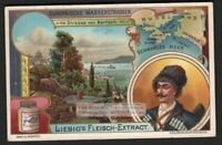 Crimea Krim Strait of Kertch Black Sea Russia Ukraine Map 1905 Trade Ad Card
