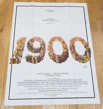 Affiche du film 1900 - BERTOLUCCI - ROBERT DE NIRO - DEPARDIEU - 120X160