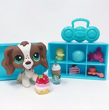 Littlest Pet Shop Lot Dog Cocker Spaniel Freckles #156 RARE Accessories Locker