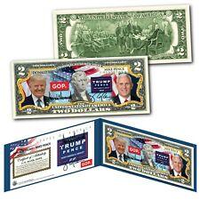 Donald Trump & Mike Pence Republican 2020 Presidential Election Genuine $2 Bill
