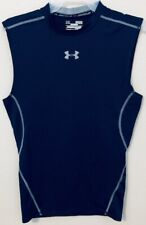 Under Armour Compression Tank Top HeatGear Navy Blue Gym Field Athletic Men's M