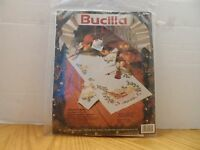 VINTAGE BUCILLA STAMPED CROSS STITCH KIT #82981 *CHRISTMAS MUSIC* TABLE RUNNER