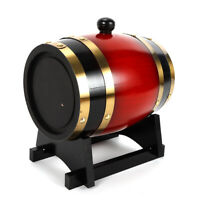 NEW Pine wood Timber Wine Barrel Dispenser 1.5L for Whiskey Storage USA