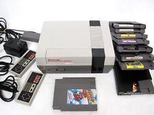 Vintage Original Nintendo Entertainment System NES +9 GAMES +2 CONTROLLERS LOT!