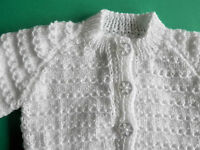 Hand knitted baby cardigan. 0-3 months. Various colours available.
