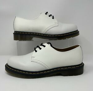 Dr. Martens 1461 White Smooth Leather Oxford AW004 Size 11