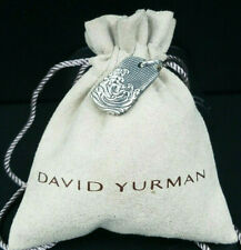 Authentic David Yurman  Sterling Silver Men's Waves Tag Pendant 26mm