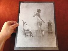 Vintage HENDRICKSON Metal Art Print 1970s OLD WEST NUDE VENUS Of The WASHTUB