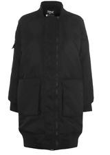 EVERLAST Long Bomber Jacket Ladies Black Size UK 14 (L) *REF134