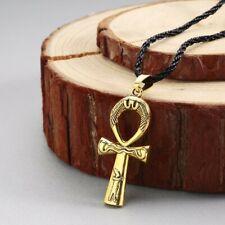 Vintage Jewelry Men Women Slavic Necklace Gold Ankh Cross Necklace Ancient Egypt