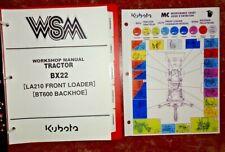 Kubota BX22 Tractor, Loader & Backhoe Service Repair Workshop Shop Manual OEM!