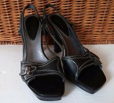 Cole Haan Womens 8.5 B 8 1/2 Black D21316 Strappy Sandles Pumps 4 inch Heel EUC