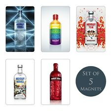 Absolut Vodka Fridge Magnets Set of 5 NEW Imported Blank Limited Ad