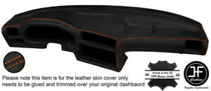ORANGE STITCH DASHBOARD LEATHER COVER FITS BMW 3 SERIES E30 1981-1992 STYLE 2