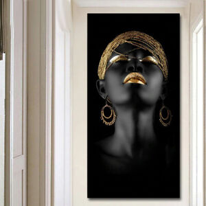 Canvas Prints Modern Black Woman Model Painting Wall Art Poster wall decor