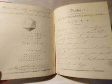 Antique 1854 Brunswick House Academy Leeds Scholars Work Book SOLIDITY Problems