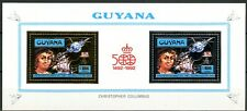 GUYANA 1992 500 ans Christopher COLUMBUS Block M 3985 A+3986 A Gold/Silver PERF