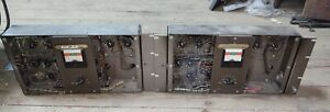 Pair of RCA MI-9377 6L6 tube amplifiers #3 with langevin transformers