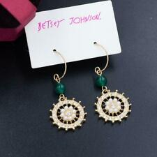 flower drop Earring Fashion Jewelry Betsey Johnson rare Alloy Rhinestone Pearl