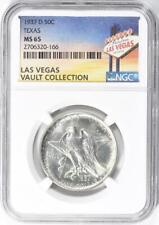 1937-D Texas Silver Commemorative Half Dollar - NGC MS-65 - Casino Vault