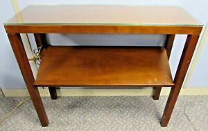 Decca Slim Magazine Console Table Medium Wood Tone.