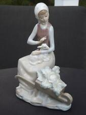 Lladro Girl with Lamb & Wheelbar 4816 Mint Condition Third Lladro Mark 1971-1974
