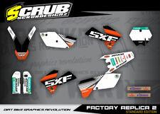 KTM SXf Dekor Grafik Set 250 450 525 2005 2006 '05 -'06 SCRUB MOTOCROSS MX