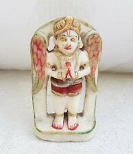 1920s Vintage Old Handmade Marble Stone God Garuda Vehicle of Lord Vishnu Statue