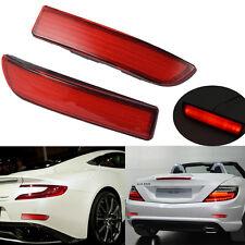 2x Car Red Lens LED Bumper Reflectors For TOYOTA RAV4 Taillight Brake Fog Light