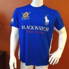Polo Ralph Lauren Men's Royal Blue Blackwatch Crew-Neck T-Shirt L