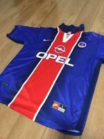 2000-2001 Vintage 90's Opel NIKE  Paris Saint Germain PSG Jersey SHIRT SIZE L