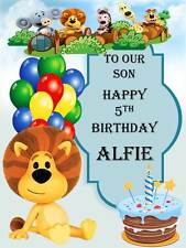 Personalised Ra Ra The Noisy Lion Birthday Greeting Card with Envelope 300