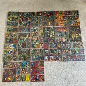 Skybox MARVEL UNIVERSE CARDS Series IV 1993 1-180 Full Base Set + Red Foils 1-9